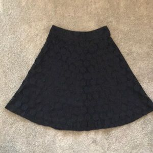 Detailed flowing black skirt